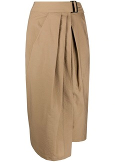 Brunello Cucinelli gathered asymmetric-hem skirt