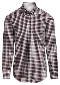 Brunello Cucinelli Gingham Check Button-Down Shirt