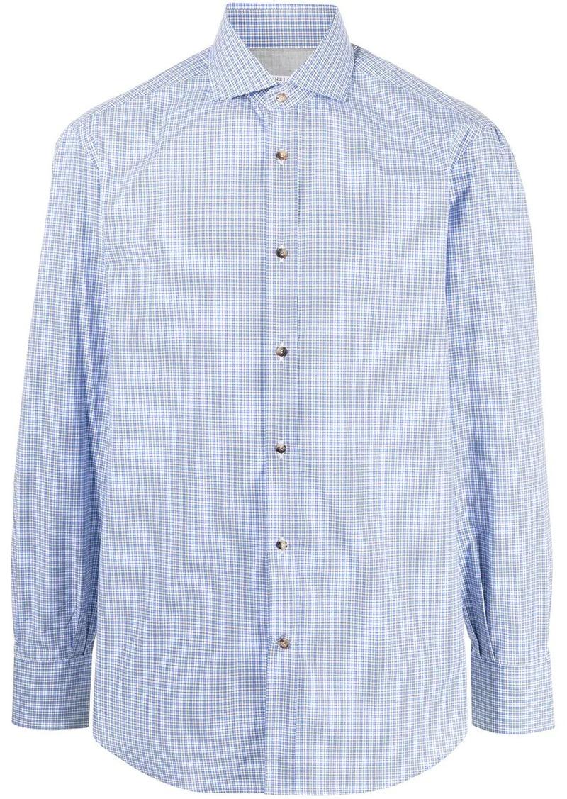 Brunello Cucinelli gingham check cotton shirt