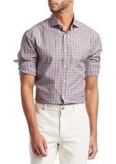 Brunello Cucinelli Gingham Plaid Button-Down Shirt