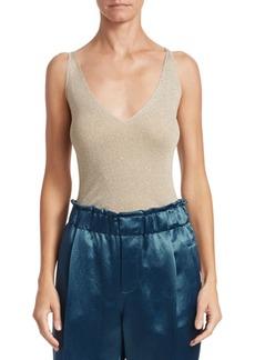 Brunello Cucinelli Lurex Knit Bodysuit