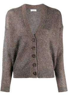 Brunello Cucinelli glitter-look knit cardigan