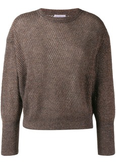 Brunello Cucinelli glitter-look knit jumper