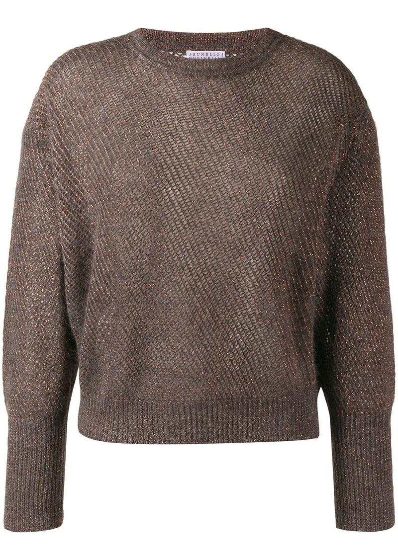 Brunello Cucinelli glitter-look knit jumper