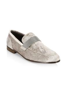 Brunello Cucinelli Glitter Velvet Loafers