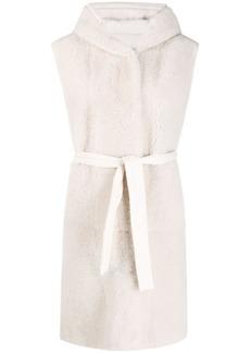 Brunello Cucinelli goat fur hooded coat