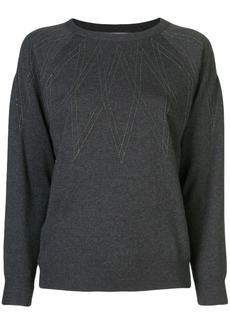 Brunello Cucinelli gold-tone embroidered jumper