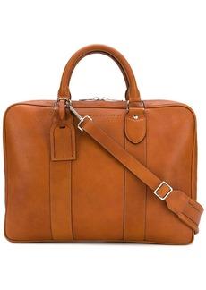 Brunello Cucinelli grained-effect briefcase