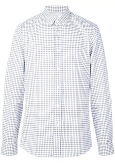 Brunello Cucinelli grid print shirt