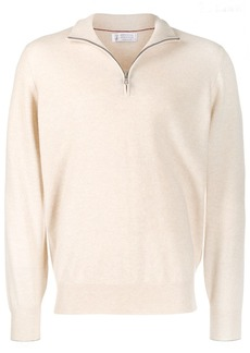 Brunello Cucinelli half zip jumper