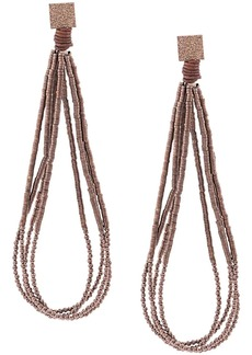Brunello Cucinelli hammered bead earrings