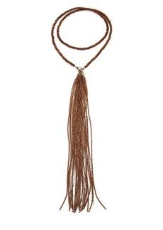 Brunello Cucinelli Hematite Copper Mala Necklace