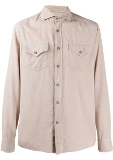 Brunello Cucinelli herringbone shirt