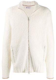 Brunello Cucinelli high neck front zip cardigan