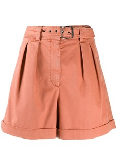 Brunello Cucinelli high-rise belted shorts