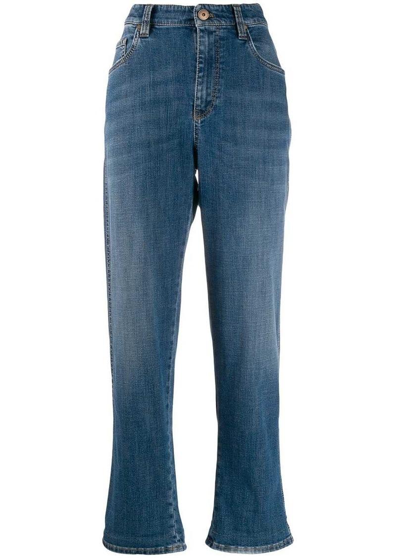 Brunello Cucinelli high-rise boyfriend jeans