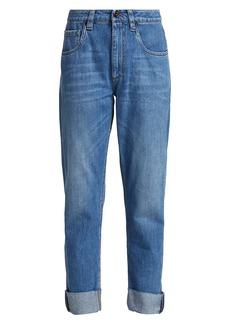 Brunello Cucinelli High-Rise Slim-Fit Cropped Jeans