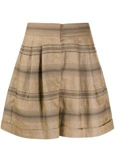 Brunello Cucinelli high-rise striped shorts