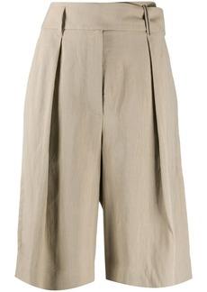 Brunello Cucinelli high-rise wide leg bermuda shorts