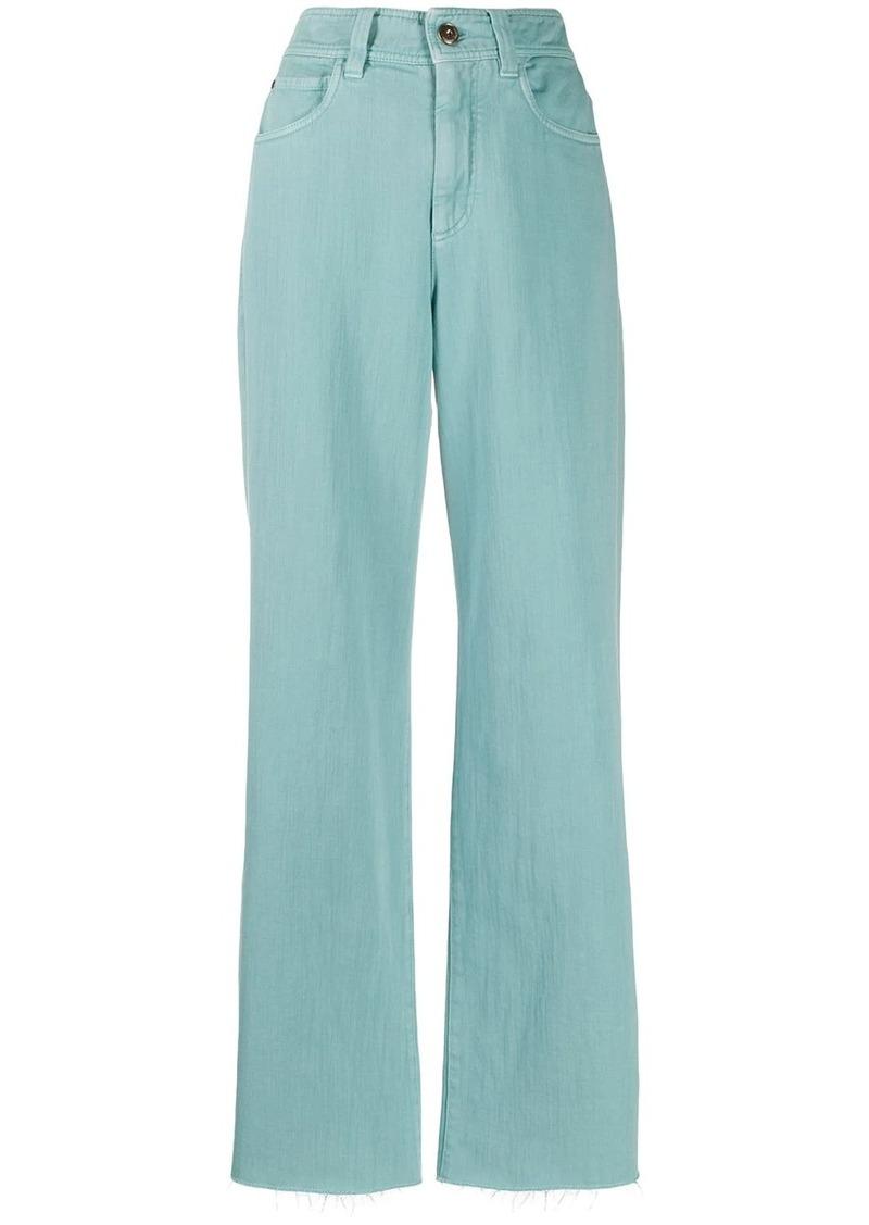 Brunello Cucinelli high-rise wide leg jeans