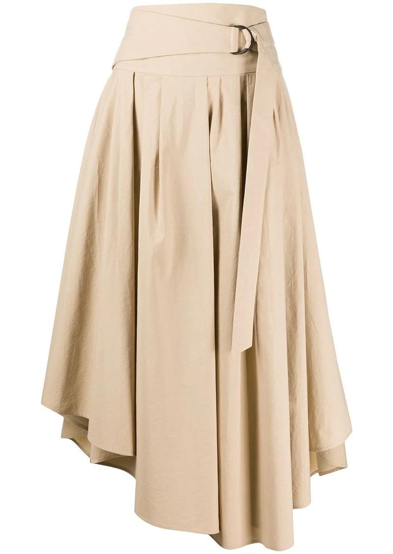 Brunello Cucinelli high waisted asymmetric hem skirt
