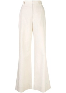 Brunello Cucinelli high waisted flared trousers