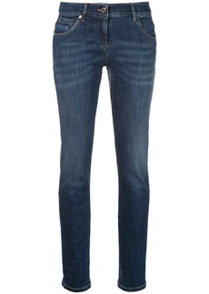 Brunello Cucinelli high waisted skinny denim jeans