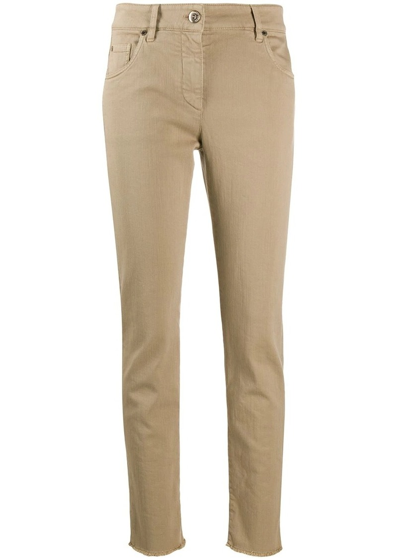 Brunello Cucinelli high-waisted slim fit jeans