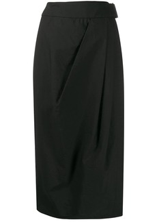 Brunello Cucinelli high-waisted wrap-style skirt