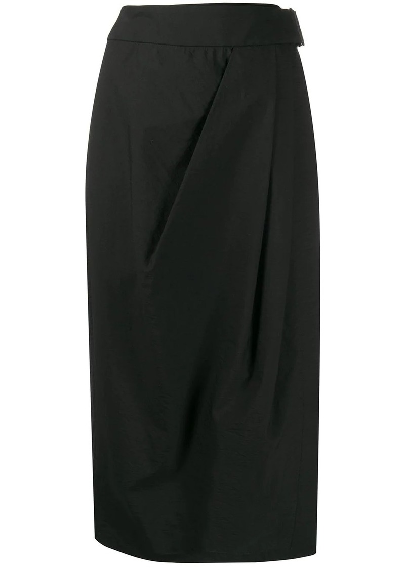 Brunello Cucinelli high-waisted wrap-style skirt