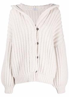 Brunello Cucinelli hooded cashmere oversized cardigan