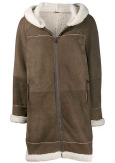 Brunello Cucinelli hooded shearling coat