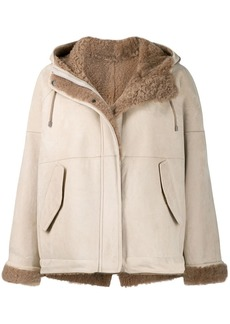 Brunello Cucinelli hooded shearling jacket