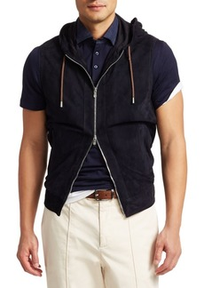 Brunello Cucinelli Hooded Suede Vest