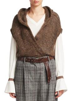 Brunello Cucinelli Hooded Surplice Sweater