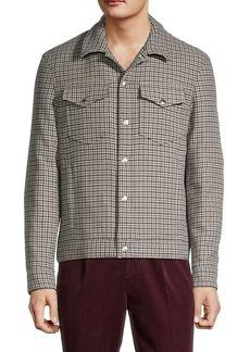 Brunello Cucinelli Houndstooth Wool & Cashmere-Blend Jacket