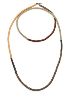 Brunello Cucinelli Monili Necklace with Leather Details