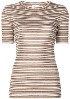 Brunello Cucinelli knitted short-sleeve jumper