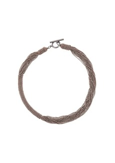 Brunello Cucinelli layered ball chain necklace