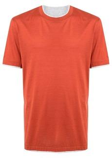 Brunello Cucinelli layered crew neck T-shirt