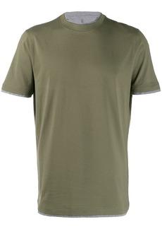 Brunello Cucinelli layered-effect T-shirt