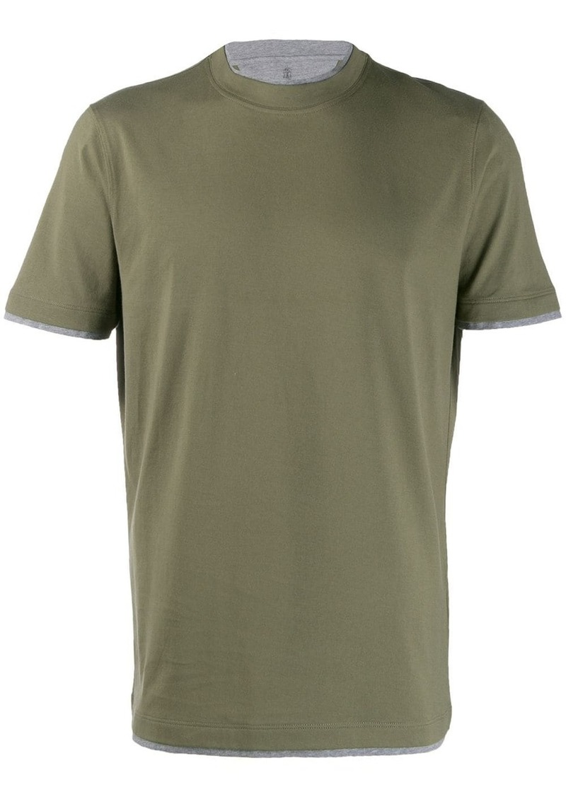 Brunello Cucinelli layered-effect T-shirt