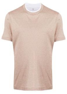 Brunello Cucinelli layered effect T-shirt