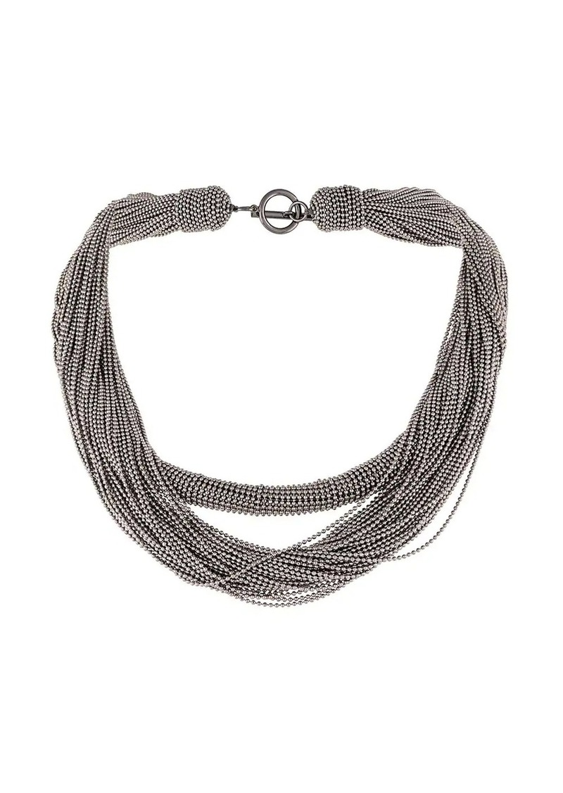Brunello Cucinelli layered rope necklace