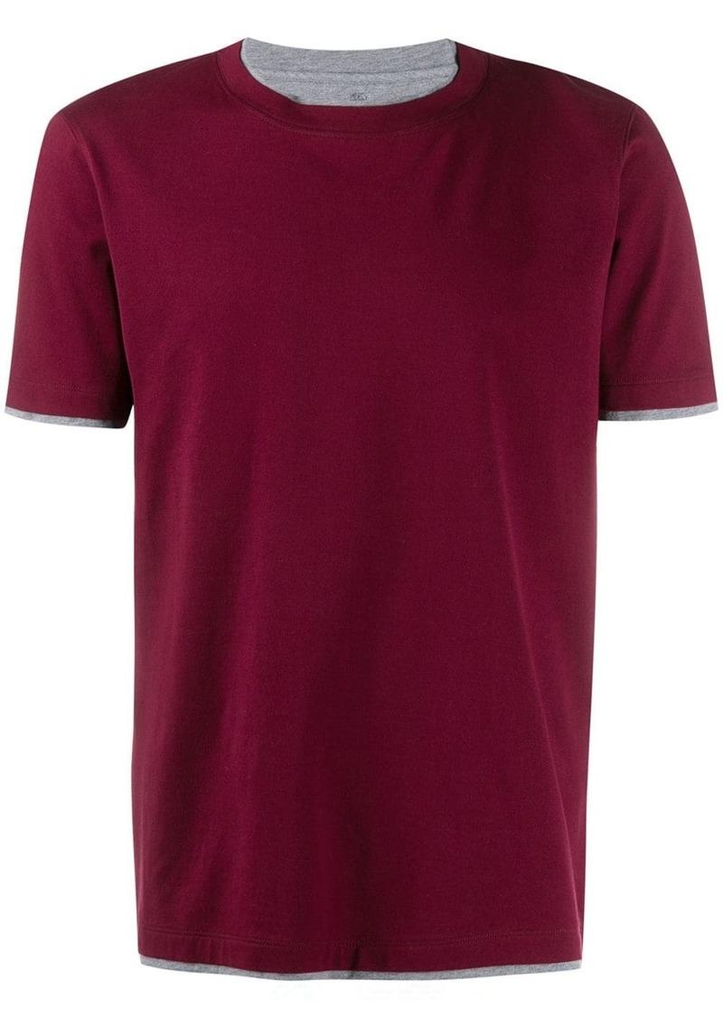 Brunello Cucinelli layered short-sleeve T-shirt