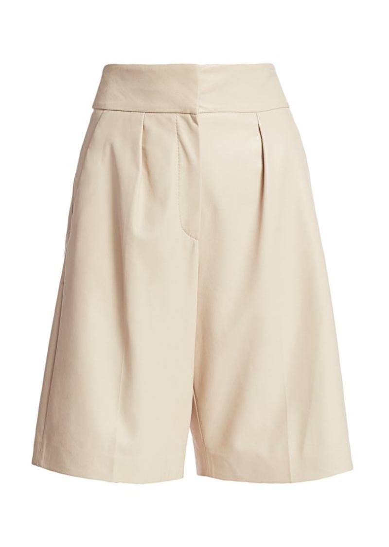 Brunello Cucinelli Leather Bermuda Shorts