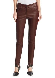 Brunello Cucinelli Leather Five-Pocket Pants