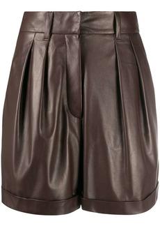 Brunello Cucinelli leather high waist shorts