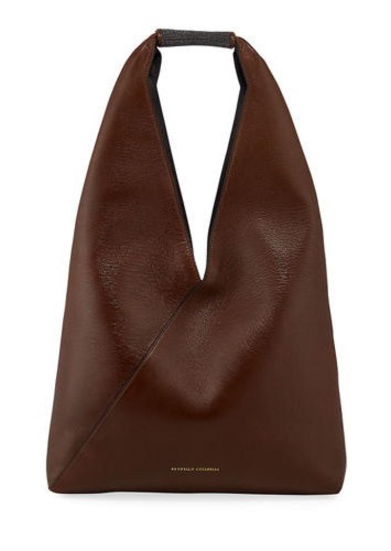 Brunello Cucinelli Leather Monili Hobo Bag