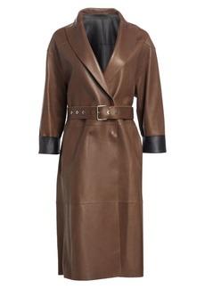 Brunello Cucinelli Leather Overcoat